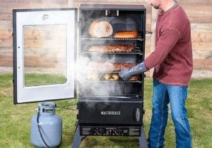 Working and use of a propane smoker include the following different steps