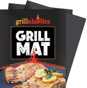 Grillaholics Grill Mat - Set of 2 Heavy Duty BBQ Grill Mats: