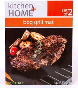 Kitchen + Home - BBQ Grill Mats - 100% Non-Stick grill accessories: