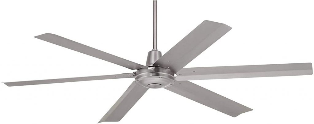 """60"""" Turbina Max DC Modern Industrial Rustic Outdoor Ceiling Fan with Remote Control"""