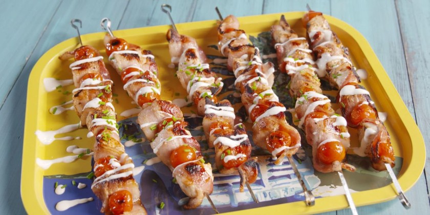 Chicken Bacon Ranch Kababs