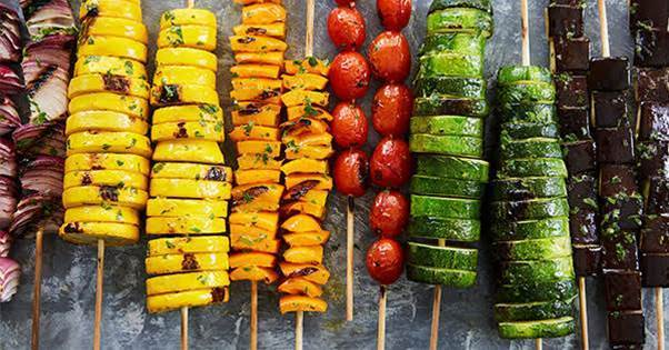 Rainbow Vegetable Kabobs